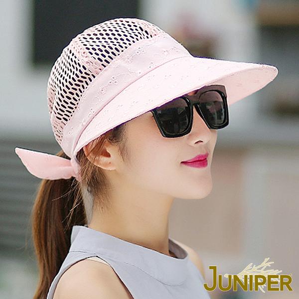 防曬帽子-女款戶外抗UV紫外線遮陽透氣淑女大眉帽J7564 JUNIPER