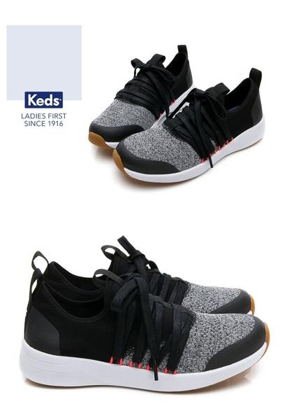 Keds 女鞋 Studio 完美包覆綁帶輕量休閒鞋-黑 83W132552