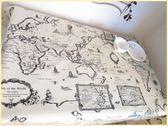 桌布 防水桌布防油免洗復古地圖歐美風電腦桌餐廳酒吧裝飾 俏女孩