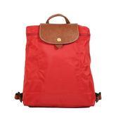 Longchamp Le Pliage 經典尼龍摺疊後背包(紅色)