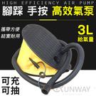 腳踩式打氣筒 3L 抽充二用充氣泵 腳踏充氣 簡易方便 泵浦 二種氣嘴 泳圈 玩具 日常必備