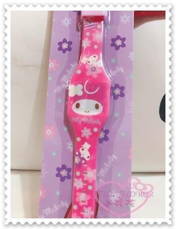 ♥小花花日本精品♥Hello Kitty 美樂蒂Melody電子錶電子數字錶數字腕錶兒童錶粉色大臉花朵22016706