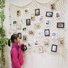 照片牆  裝飾壁飾麻繩網格夾子明信片裝飾...