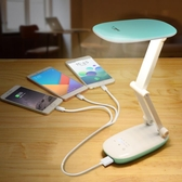 充電寶LED小臺燈護眼書桌大學生宿舍迷你折疊寢室女生臥室
