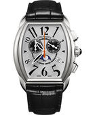 AEROWATCH 藝術酒桶型計時腕錶-銀x黑 A84957AA03