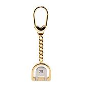 BALLY經典LOGO馬蹄形簍空鑰匙圈吊飾(金色) 090158