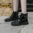 馬丁靴女英倫風秋韓版百搭學生平底短靴chic短筒機車靴子