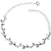 純銀手鍊 女韓版森系銀首飾簡約學生個性清新月光森林閨蜜手鍊