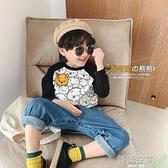ivan家童裝秋冬新款男童T恤兒童迪士尼維尼熊長袖中小童寶寶加絨 【韓語空間】