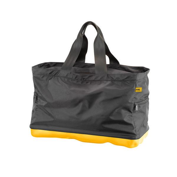 Crash Baggage Bump Bags 前衛霧面 龐克系列 防潑水 旅行提袋 / 運動側背包(黑色提袋 - 加州黃硬殼)