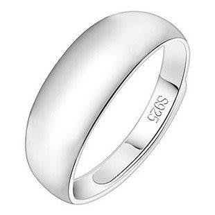 925純銀戒指情侶 光面寬款 單1價