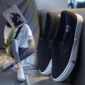 2020夏季小白鞋女帆布鞋女鞋懶人一腳蹬平底套腳百搭網紗透氣休閒 後街五號