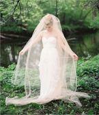 香檳色頭紗女軟紗新娘結婚頭紗