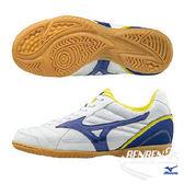 美津濃 MIZUNO 童鞋 SALA CLUB 2 IN (白/藍) 綁帶式全尺碼室內兒童足球鞋 Q1GA175122【 胖媛的店 】