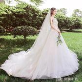 婚紗超仙禮服夢幻公主新娘拖尾蘇州婚紗一條街赫本輕森系  娜娜小屋