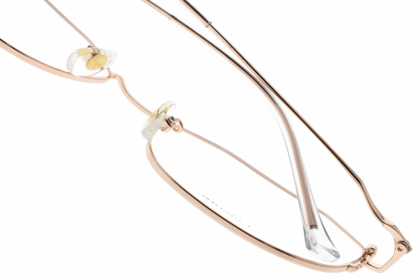 SEROVA光學眼鏡 SL398 C01 (玫瑰金) 多邊造型金屬框款 陳喬恩 配戴款 眼鏡框 #金橘眼鏡