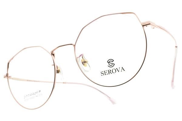 SEROVA 光學眼鏡 SC121 C15 (玫瑰金) 純鈦眼鏡框 #金橘眼鏡
