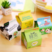 【BlueCat】韓國Milk Memo新鮮屋Cow香蕉牛奶盒紙盒抽取式便條紙
