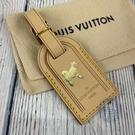 BRAND楓月 LOUIS VUITTON 路易威登 LV 狗狗圖案 燙金 皮革 行李吊牌 配件 配飾 包包配件