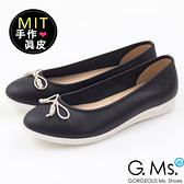 G.Ms.*MIT系列-羊皮線圈綁繩蝴蝶結包鞋-可可黑