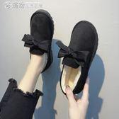 豆豆鞋 軟妹學生加絨厚底網紅女鞋秋冬季豆豆鞋一腳蹬棉鞋子瓢鞋 繽紛創意家居