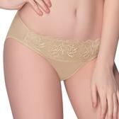 思薇爾-花薇系列M-XL蕾絲低腰三角內褲(淺棕膚)
