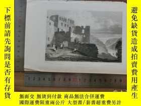 二手書博民逛書店【罕見】19世紀 銅 鋼版畫 單幅 RUINS OF RHEIN