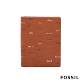 FOSSIL LOGAN 咖啡色童趣真皮RFID護照夾 SLG1287914