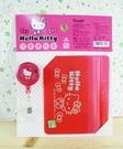 【震撼精品百貨】Hello Kitty 凱蒂貓~KITTY證件套組-紅招手