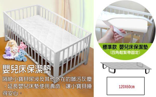 WallyFun  嬰兒床用保潔墊 -單件式(120X60CM) ★台灣製造,採用遠東紡織聚酯棉★