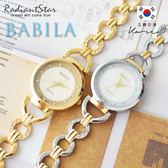 日本BABILA柔美協奏曲純淨點鑽金屬鍊帶手錶【WBA6027L】璀璨之星☆
