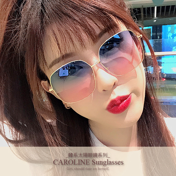 《Caroline》年度最新網紅款潮流百搭抗UV時尚太陽眼鏡 72125
