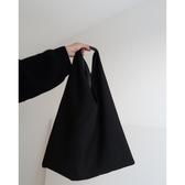 促銷韓版上新慵懶風大包暗黑風側背包手提包拼接休閒帆布包女包 宜室