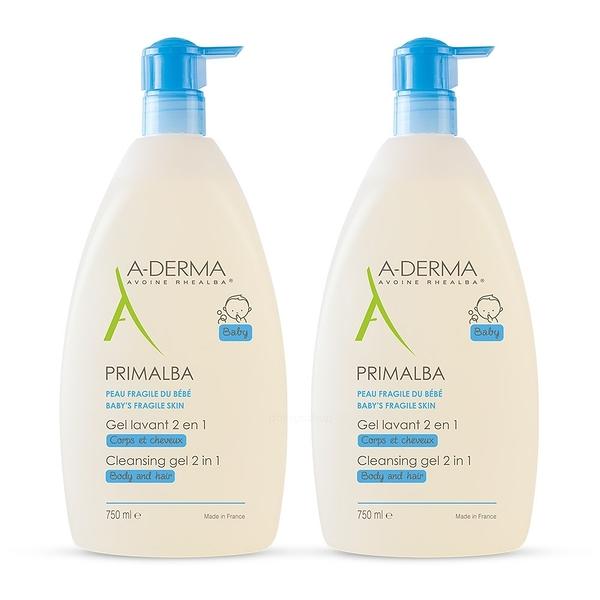 A-Derma艾芙美 燕麥新葉寶貝洗髮沐浴精750ml 超值雙入組