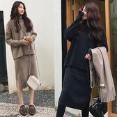 很仙毛衣上衣冬裙兩件套裝胖mm大碼連衣裙洋氣秋冬減齡時髦胖女人 koko時裝店