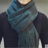 男士秋冬季韓版仿羊絨拉毛保暖圍巾.