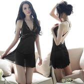 (超夯免運)情趣內睡衣 極度性感睡衣誘惑透明夏季露背蕾絲情趣內衣吊帶睡裙家居服套裝