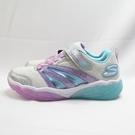 Skechers S LIGHTS-FUSION 中童鞋 閃燈 魔鬼氈 302043LSLLV 銀【iSport愛運動】