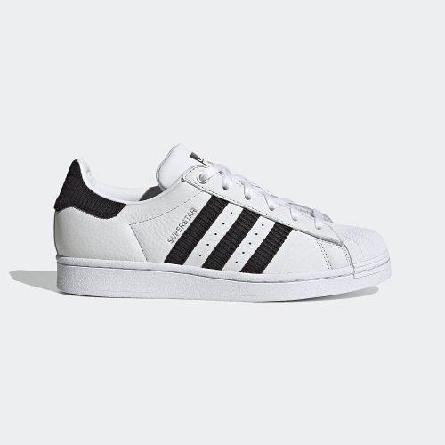 【折後$3080再送贈品】ADIDAS ORIGINALS SUPERSTAR W 皮革 燈心絨 貝殼頭 運動鞋 H69025 白黑 女鞋