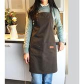 帆布圍裙定制印字奶茶咖啡店烘焙餐廳美甲韓版時尚男女工作服【週年店慶好康八五折】