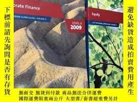 二手書博民逛書店【Corporate罕見Finance LEVEL 2009】【Equity 2009】 2本Y463842