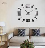 新品相框鐘表時尚創意牆貼掛鐘 DIY數字表 現代個性牆貼掛表時鐘WY 「名創家居生活館」
