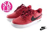 NIKE AIR FORCE 1 LV8 (GS) 大童鞋 透氣皮面 經典復古鞋N7292#紅色◆OSOME奧森童鞋