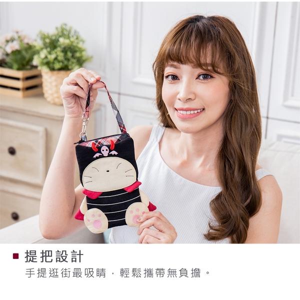 Kiro貓 小惡魔 雙層 手機包/保護套/手拿包【820205】