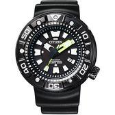 CITIZEN Promaster 光動能專業300米潛水腕錶-黑 BN0177-05E