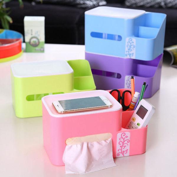 桌面收納盒紙巾抽 歐式彈片升降紙巾抽多功能收納盒-艾發現