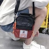 潮流單肩包男潮牌斜挎包蹦迪包學生跨包運動背包男生小包包手機包『小淇嚴選』