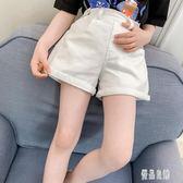 女童白色短褲夏季新款兒童褲子女童休閒夏裝中大童牛仔褲洋氣1115