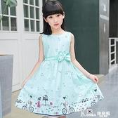 兒童洋裝 童裝兒童裙子女童洋裝2021夏裝新款公主裙純棉棉布裙碎花背心裙