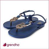 GRENDHA 神秘波斯華麗時尚涼鞋-神秘藍